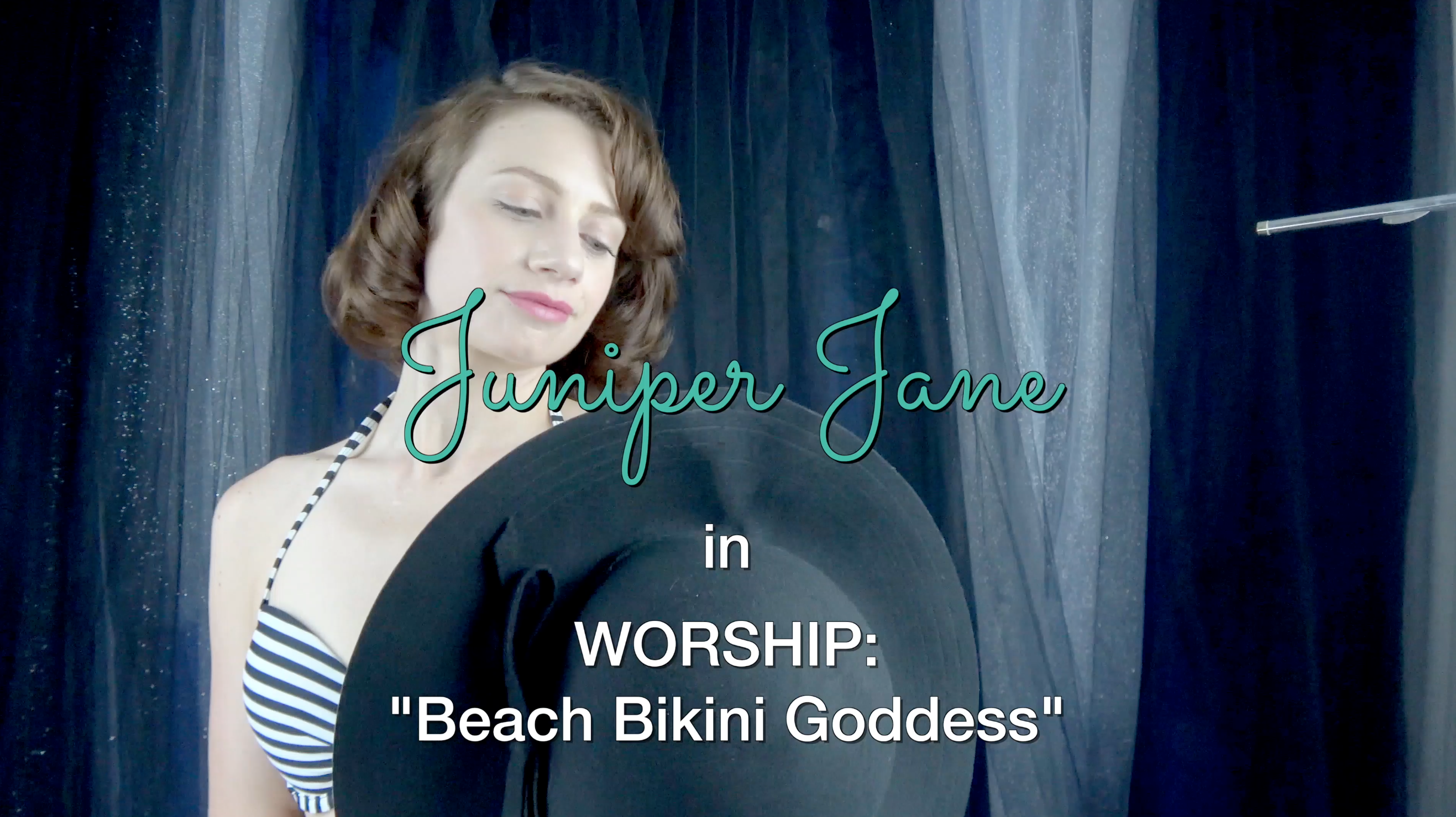 Goddess Juniper Jane Beach Bikini Goddess Worship | Pin Up Girl Porn Star | Vintage Erotica | Superior Mistress